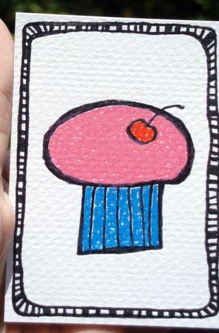 Cupcake pink line border2