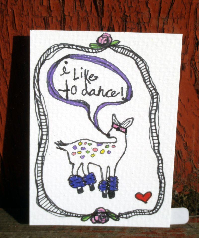I like to dance deer