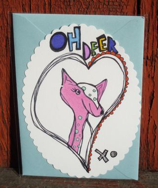 Oh deer pink and blue