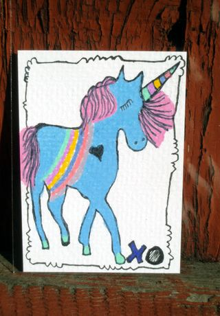 Unicorn aceo