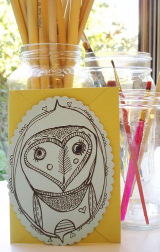 Owly blue card
